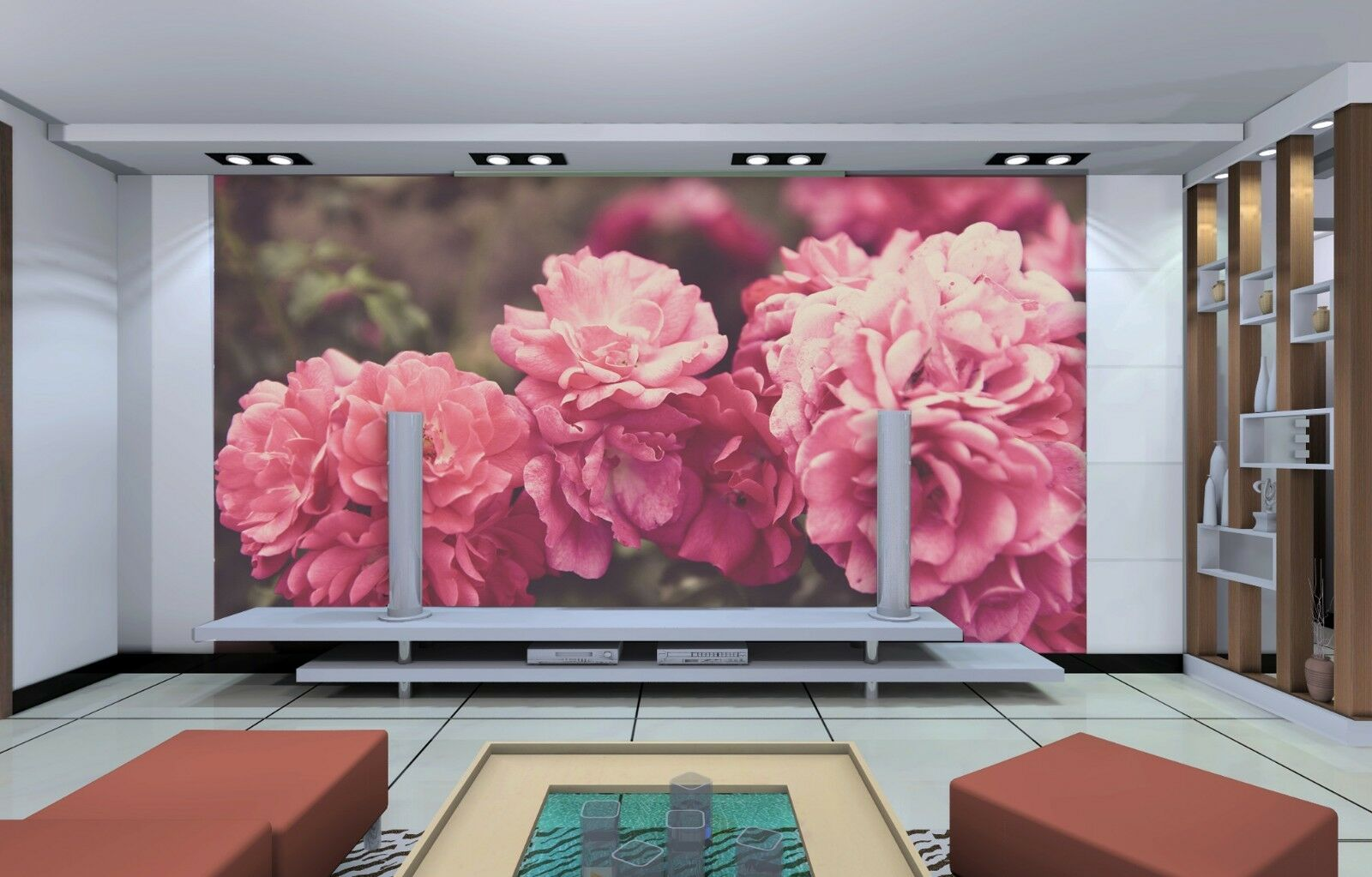 3D 3D 3D Rosa flower pattern 228 Wall Paper Print Decal Wall Deco Indoor wall Mural 87d32d