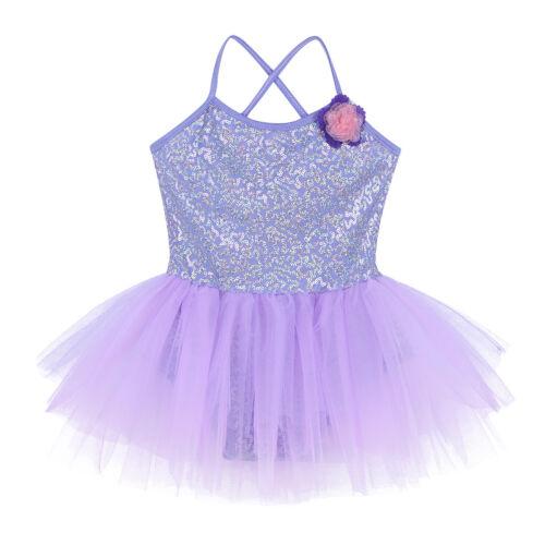 Details about  /Kids Girls Ballet Dance Gymnastics Yoga Leotard Tutu Dress Ballerina Dancewear