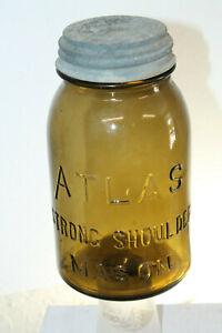 ATLAS-STRONG-SHOULDER-MASON-AMBER-FRUIT-JAR-QUART