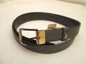 AUTHENTIQUE-ceinture-PIERRE-CARDIN-cuir-BEG-vintage-T-85