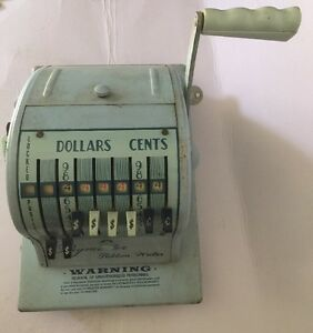 Details about Vintage Paymaster Series 8000 Check Ribbon Writer with Key
