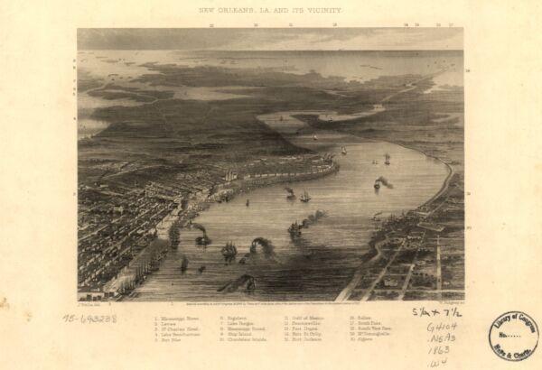 A4 Nachdruck Von Amerikanische Städte Städte States Karte Neu Orleans Ausgereifte Technologien