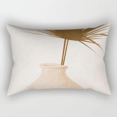 Rectangle Pillow Case Short Plush Waist Throw Sofa Cushion Cover Home Decor