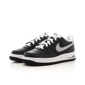 Dettagli su Scarpe Ragazzi donna Nike Air Force 1 Ct5531 001 Nero grigio Sneakers Swosh