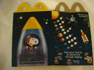 Discover Space with Snoopy • McDonald/'s Happy Meal Box • 2019