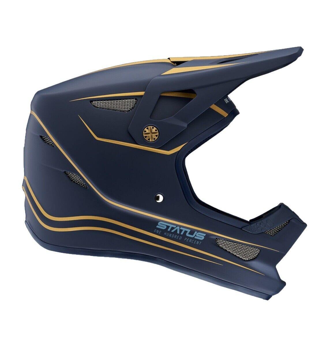 100% statut Visage Complet Casque  Ltd Blau Marine 2XL