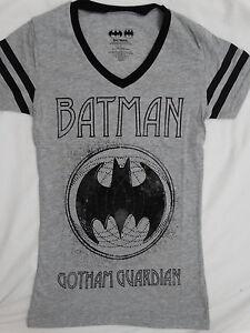 26494bd9 Batman Gotham Guardian Dc Comics Womens Junior V-Neck T-Shirt | eBay