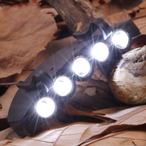 5 LED Cap Hat Head Light Lamp Torch HeadLamp Flashlight for Outdoor Hiking Hunt