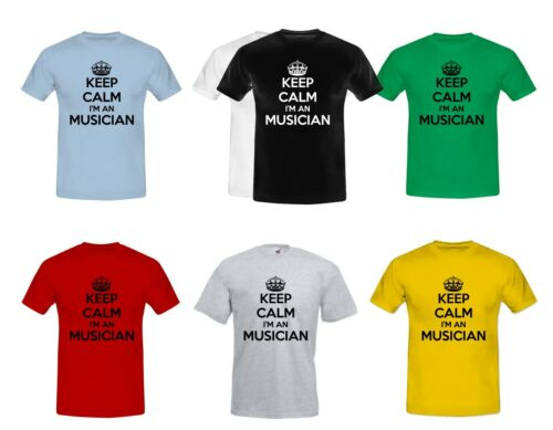 Keep Calm Musician Men/'s Boys Slogan Funny Humour Fathers Day T-Shirts S-XXL