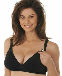 d84473eced1 Melinda G Glorious Tee Shirt Nursing Softcup Bra 2160 Black Small ...