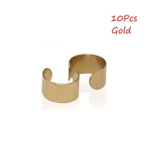 2//10Pcs Womens Ear Cuff Earrings Fashion Ear Clip Punk Rock Cuffs Fake Stud
