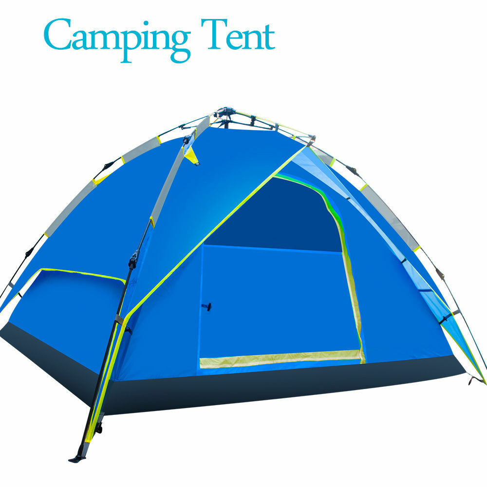 2-3 Persons Double Layer Waterproof Outdoor Camping Instant Tent UV Predection