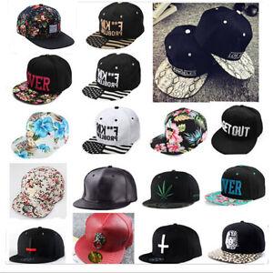 39065e19d3a NEW Men Women Snapback Baseball Cap Hip Hop Hat Floral Letter ...