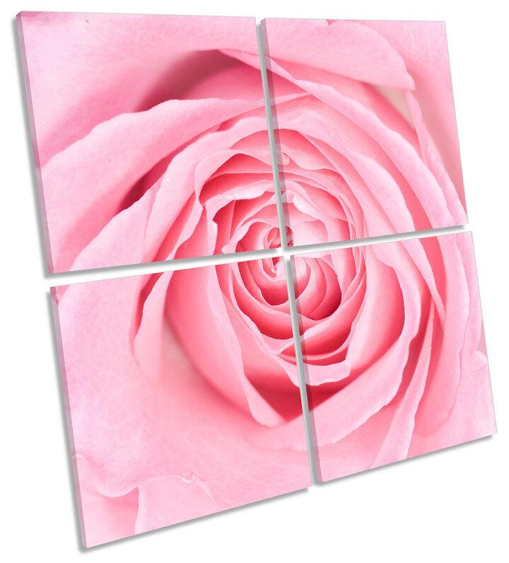 Rosa Rosa Flor Floral Lona Pa Arte rojo  Arte Pa Cuadrado de impresión de múltiples 51d872