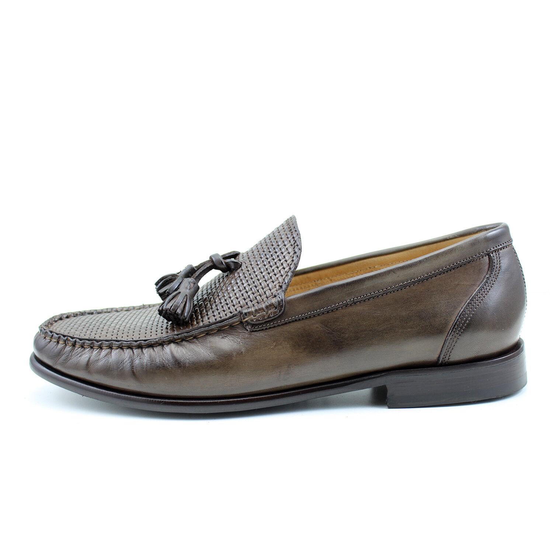 Men's mocassin Marroneee leather scarpe handmade handmade handmade Italian elegant GIORGIO REA 7753MA b0086d