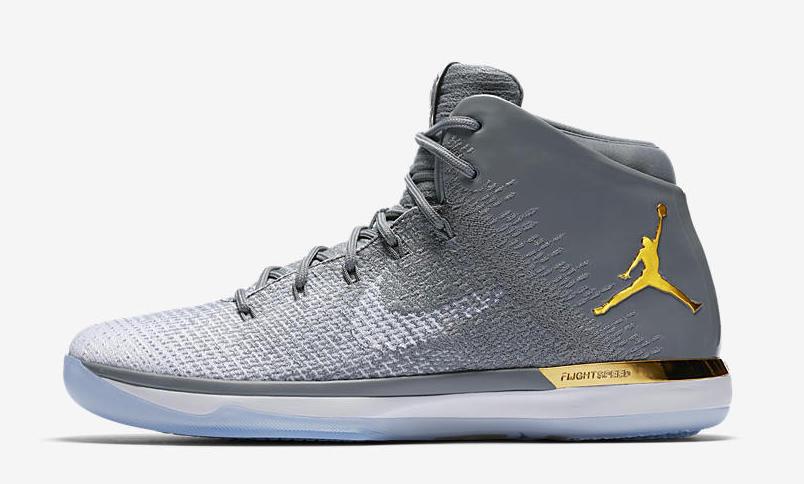 Nike air jordan jordan brand classic 31 'jbc grigio oro dimensioni aa2564-071