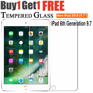 f927094d433105 Tempered Glass Film Screen Protector for Apple iPad 9.7/inch 2018 6th Gen  A1893