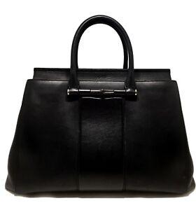 f5c04f400dc1fc GUCCI 'LADY BAMBOO' BLACK LEATHER TOP HANDLE BAG, $2850 | eBay