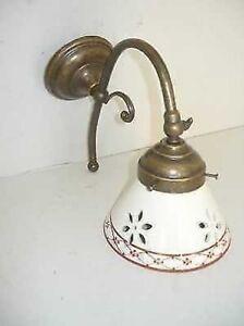 Applique-murale-en-laiton-salle-de-bain-entree-avec-ceramique-perfore-MARRON
