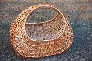 medium size-VINTAGE STYLE -Quality - Wicker Shopping  Basket -HANDMADE