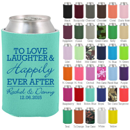 Personalized custom can koozies wedding favor Coolies quick turnaround (1831)