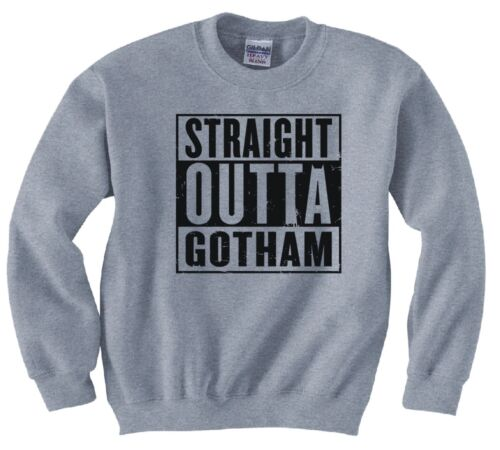"BATMAN /""STRAIGHT OUTTA GOTHAM/"" SWEATSHIRT NEW"