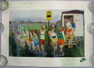 NITF-Vintage-Nike-Running-Poster-Mars-London-Marathon-Ralph-Steadman-Art