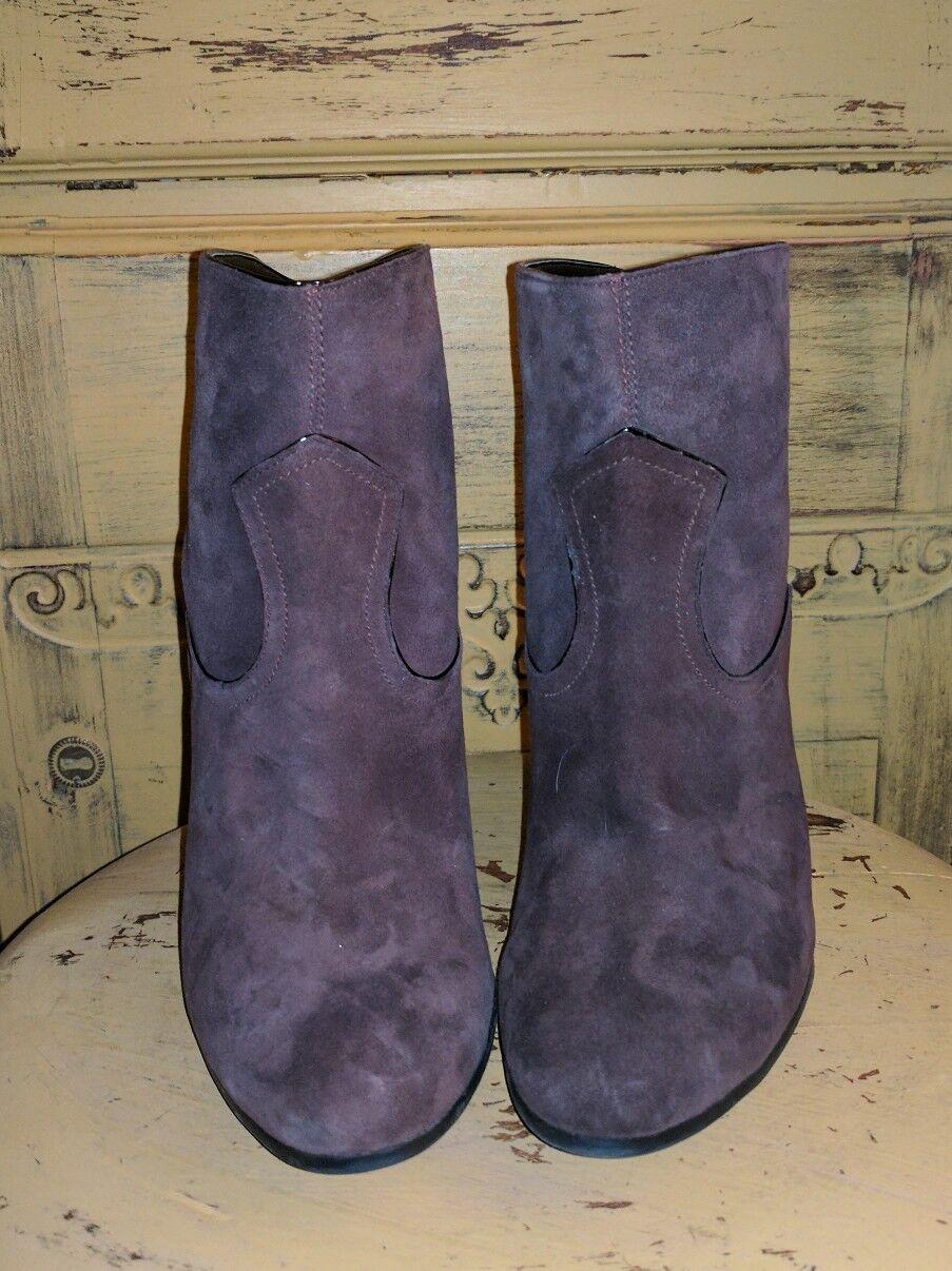NEW NINE WEST BROWN Stiefel SUEDE ANKLE Stiefel BROWN BOOTIES HIGH HEEL LADIES 10 M 6f8fcf