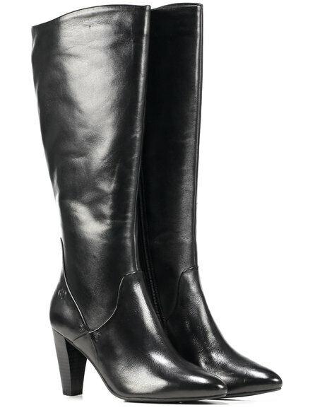 Neu GERRY WEBER JOSEFINE 03 Stiefel Schwarz Leder Größe 37, 38