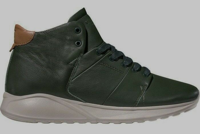 NEW Mens Sz 13 GLOBE Los Angered Lyte Olive Green Leather Casual shoes Sneakers