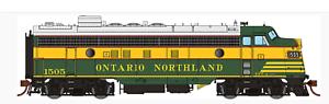 Rapido 1 87 Ho ONR Ontario Northland (temprano) FP7 Loco Rd   1505 DC DCC SONIDO