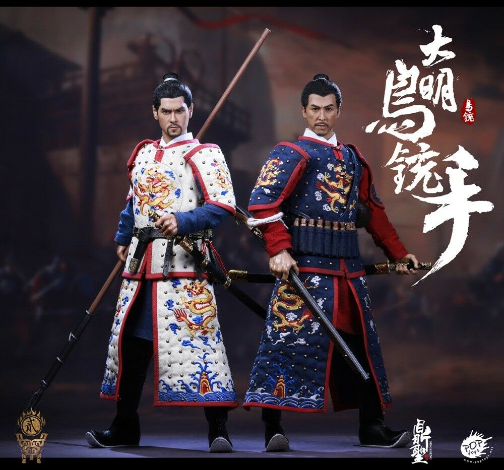 POPTOYS DS002 1 6th Ming Dynasty Musketeer Solider Figure Collectible