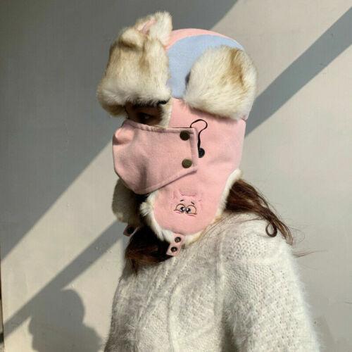 Damen Herren Kunstpelz Trapper Hut Kappe Russisch Ushanka Kosake Winter Warm Neu