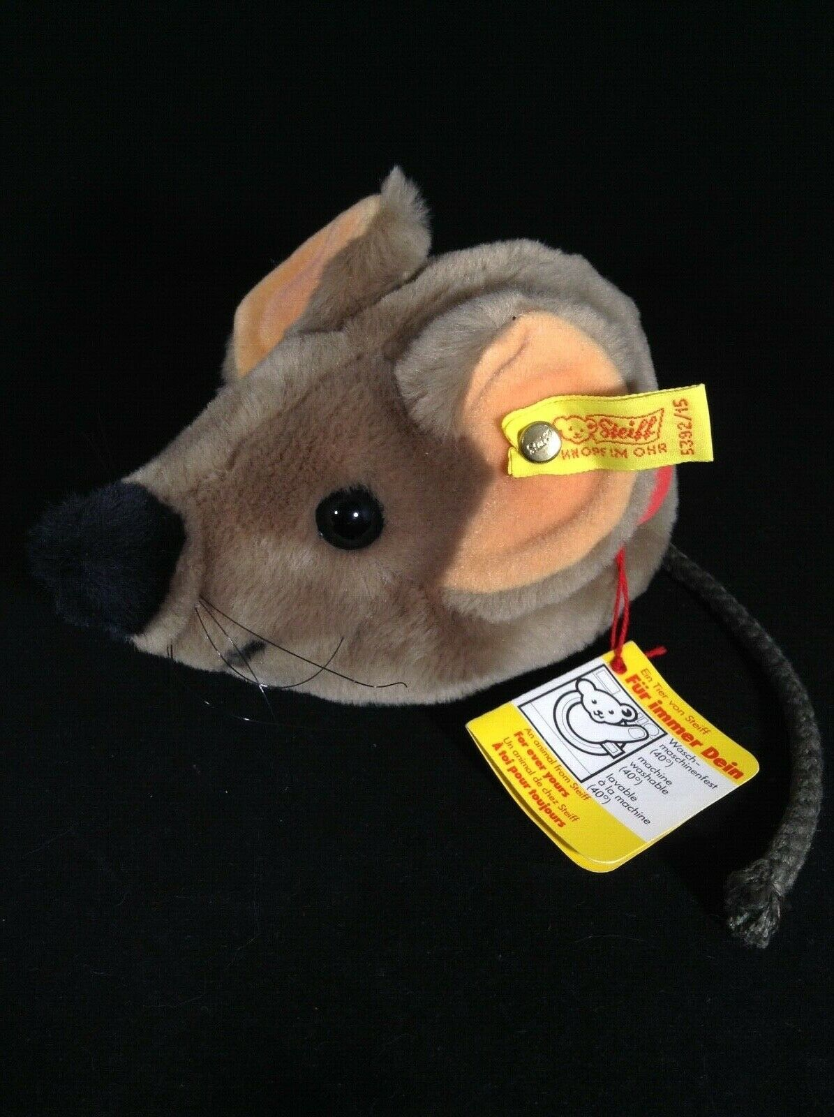 Vintage Steiff 6.5  Cosy Fiep Mouse with Tags - 5392 15 - Great Condition - RARE