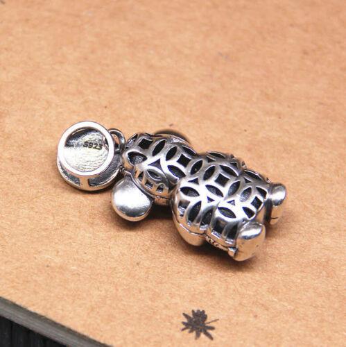 Horoskop Sterling Silber 925 B25 Anhänger 2020 Jahr d Ratte Segen Glück chin