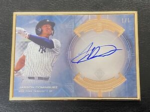 JASSON DOMINGUEZ TRUE #1/1 AUTO ON CARD RC 1st BOWMAN TRANSCENDENT GRAIL YANKEES