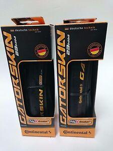 1 or 2 PACK Continental Gatorskin 700 x 23 25 28 or 32 Road Bike Folding Tire