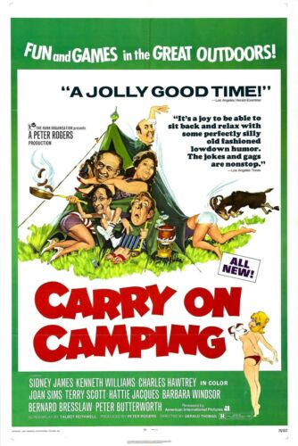 CARRY ON CAMPING Vintage Movie Film Poster A4,A3,A2,A1 Home Wall Art Print