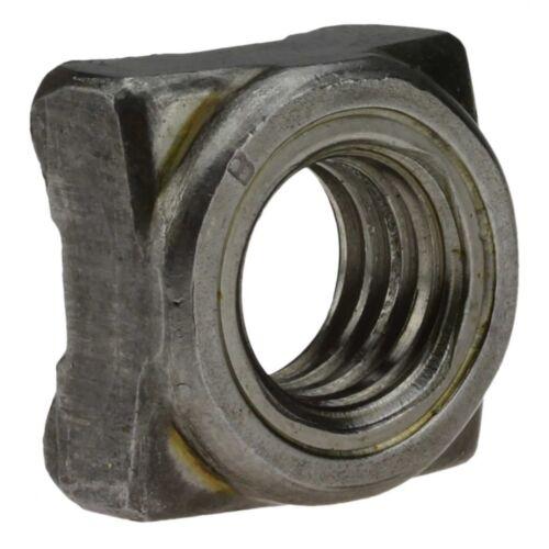 1000x DIN 928 Vierkant-Schweißmuttern M 6 Stahl blank
