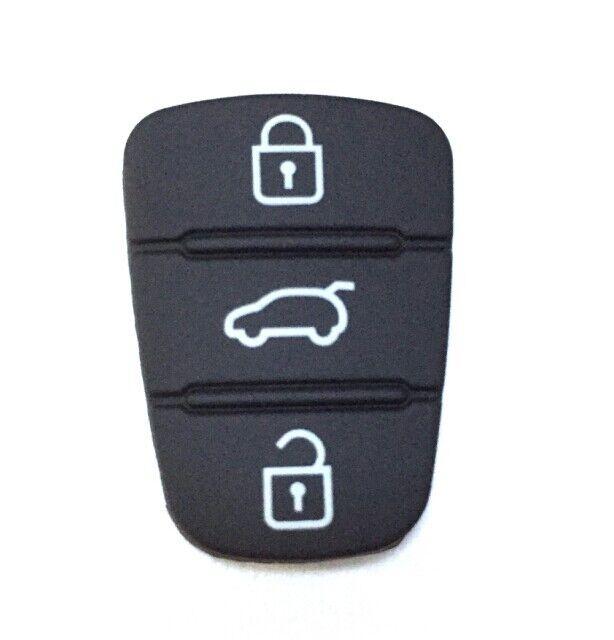 10PCS Remote Key Pad Rubber 3 Button for Hyunda I30 IX35 Kia Seed Sportag