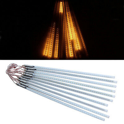 10 Tubes String 50cm 3528 60smd LED Meteor Shower Rain Light Party Lamp DC 12V