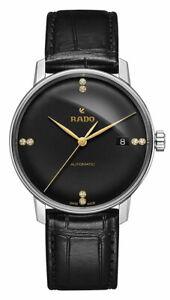 Rado-Coupole-Classique-L-Noir-Cadran-Cuir-Automatique-Montre-Hommes-R22860715
