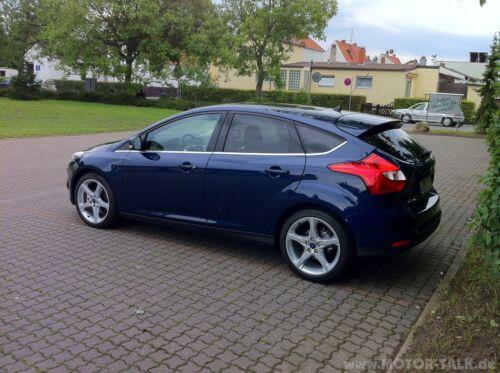Ford Focus MK3 Door Wing MIRROR COVERS CAPS Paire Gauche /& Droite encre bleu peint