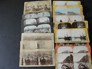 Set-of-20-Original-STEREOVIEW-PHOTO-CARD-S-Mostly-Europe-Places-from-1894-RARE