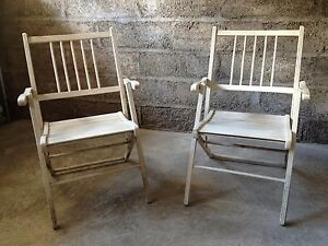 Details about Pair antique vintage folding wooden deck patio pool beach  chairs