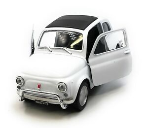 Voiture-miniature-Fiat-Nuova-500-1957-1975-Oldtimer-Blanc-Auto-1-34-39-LGPL