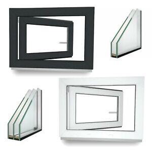 Kellerfenster-Kunststoff-Fenster-Kipp-2-3-verglast-Anthrazit-Lager-ALLE-GROssEN