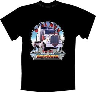 /'REAL MEN/' DRIVE KENWORTH  BLACK T SHIRT LARGE