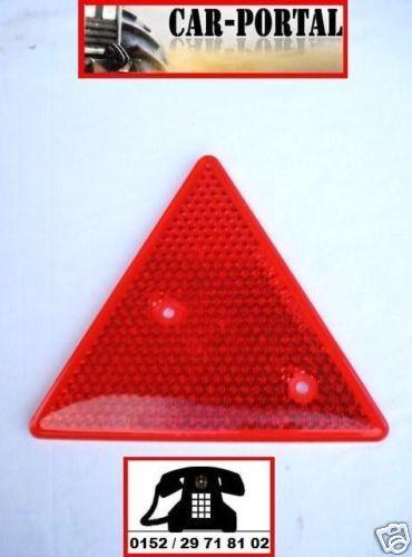 Rückstrahler Dreieck rot HW60 HW80 THK5 Anhänger Hänger Strahler Blende
