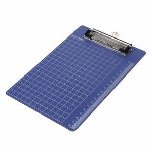 Unterlage-Klemmhalter-Ordner-Kunststoff-Klemmbrett-Blau-Purpur-fuer-Papier-K5Y3